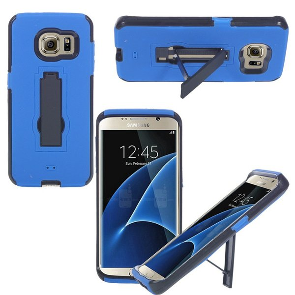 Newest Hot Sale High Quality Heavy Duty For Samsung S7 Edge Cell Phone Case Silicone+PC Shockproof Free Shipping With Retail Packing