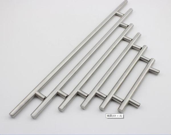 Retail Modern Satinless Steel T bar Kitchen Cabinet Door Handles Drawer Pulls/Knobs Furniture Accessories