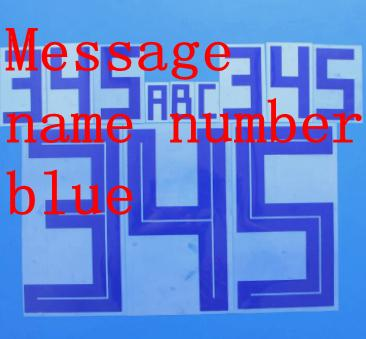 Message name number blue