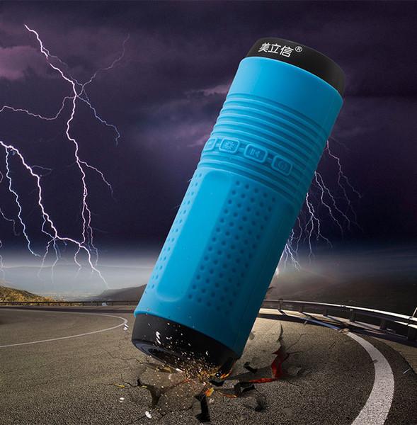 50pcs---Multi-function outdoor riding audio card Bluetooth speaker bike waterproof subwoofer portable flashlight