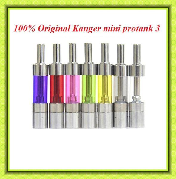 100% Original Kanger mini protank 3 atomizer 1.5ml dual coil pyrex glass mini protank3 clearomizer for ego evod battery subox mini