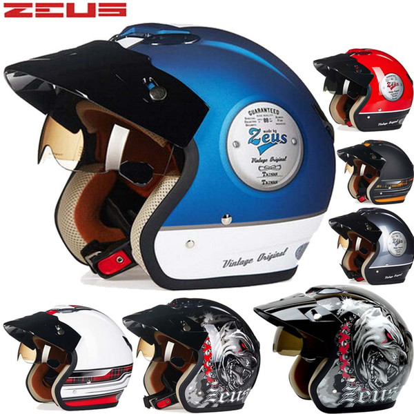2016 New Genuine Taiwan ZEUS ABS half face motorcycle helmet male and female models vintage motorbike electric bicycle helmets 381c