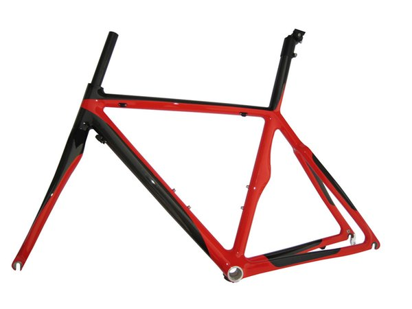 RB09 bright red color painted full carbon fiber road bike frame high quality 700c bike frameset
