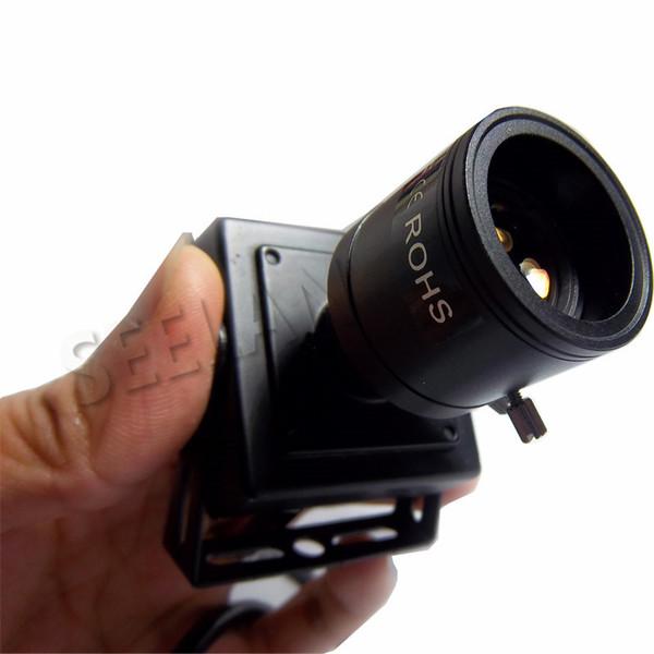 720 P ses mini IP Kamera desteği ONVIF 2.0 2.8-12mm manuel varifocal zoom lens P2P Tak ve braket güvenlik kamera Ile Oynamak