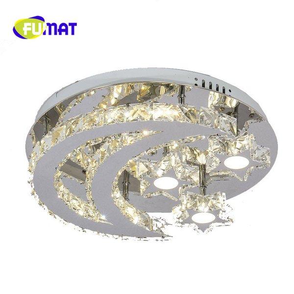 FUMAT 2017 Yenilik Modern LED Kristal Tavan Işıkları Ay Işık Tavan Lambası Fikstür luminaria Çocuk Yatak Odası Ev Dekorasyon