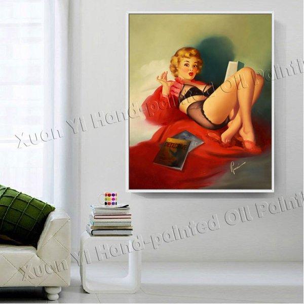 Compre Pintura Marilyn Monroe Sexy Aceite De Arte De La Pared ...