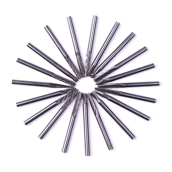 Free Shipping 20pc Tungsten Carbide Rotary Burrs Set for Dremel Accessories Milling Cutter Drill Bit Engraving Bits