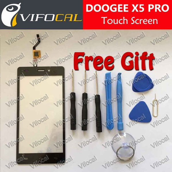 Wholesale-DOOGEE X5 PRO Touch Screen 100% New Original Digitizer Glass Panel Replacement repair accessory For Mobile Phone + Free shipping