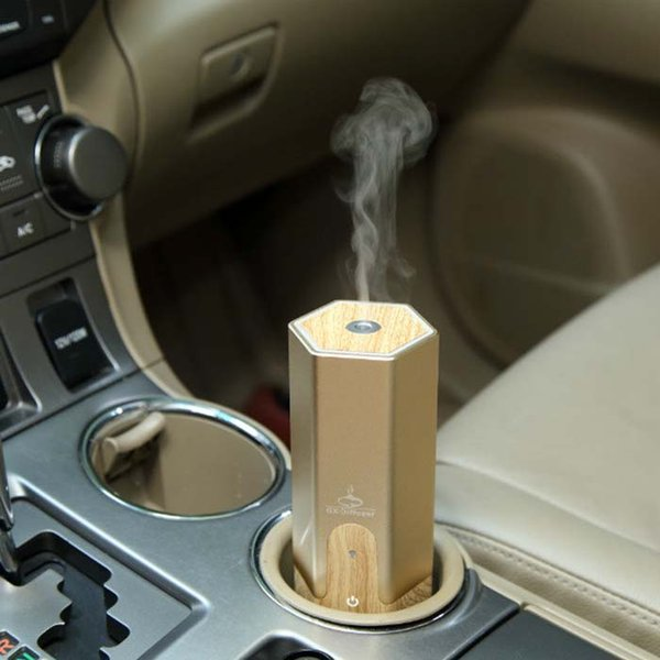 New design hot selling 3 kinds aroma diffuser for car with gold black and sliver colors with retail box DHL free shipping
