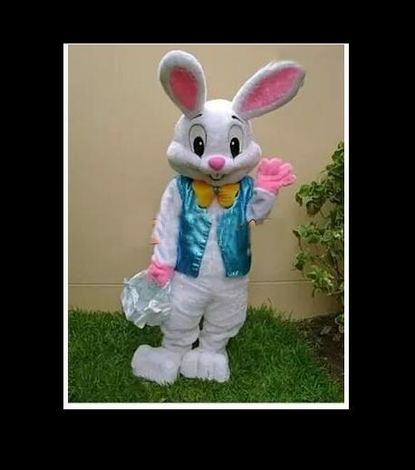 PROFESSIONAL EASTER BUNNY MASCOT COSTUME Bugs Rabbit Hare Adult Fancy Dress Cartoon Suit Free Shipping