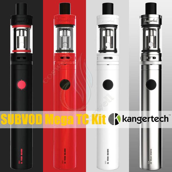 Original Kanger Subvod Mega TC Kit Ni200 4ml Toptank SSOCC Atomizer 2300mAh 40W vapor mods Kangertech Starter Toptank mini Top fill Kits DHL