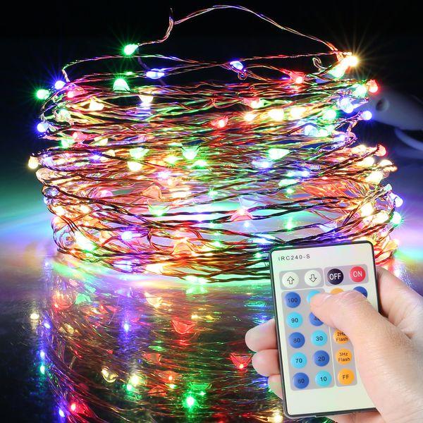 finest selection 2b9db 8a74d Wholesale Led Rope Light 15M Led Euro USA Hot Sale USB Remote String Light  LED Cooper Holiday Decoration Light String Fairy Lights Large Bulb String  ...