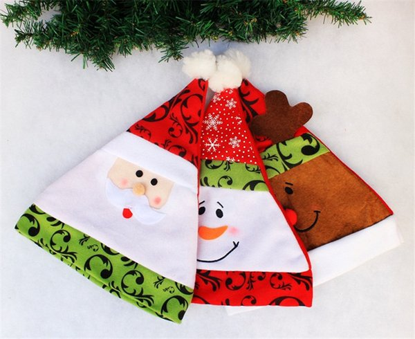 Взрослый Рождество косплей шляпа шапки Санта-Клаус отец рождественские шляпы рождественские украшения подарки 12 шт./лот 28*35 см Бесплатная доставка
