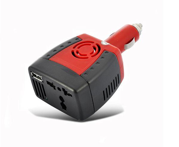 150W 12V DC a 220V 110V CA Inversor de corriente USB Cargador convertidor de enchufe para teléfono móvil Samsung iphone adaptador de computadora portátil