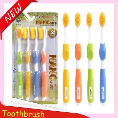 Wholesale-New Golden Retriever toothbrush with tongue scraper tongue cleaner tooth brush escova de dente cepillo de dientes brosse a dent