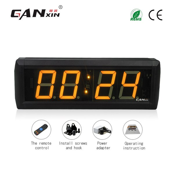 [Ganxin]Wholesale 2.3 inch 4 Digits LED COUNT DOWN UP INTERVAL TIMER STOPWATCH REMOTE CONTROL CLOCK Led Clock Sale in Table Clock