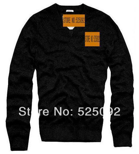 Wholesale-Hot Selling Brand New Men's V- neck 100% Cotton Sweater Man Pullover MIX Order Low Price Sale Sweaters For Men M9001B