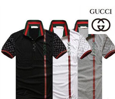 Vendita calda Nuovo G G moda uomo estate Euro Stati Uniti pantaloni per il tempo libero collocazione bavero POLO magliette per uomo Italia polo