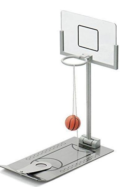 Jeu de basket-ball Mini Tabletop Portable Voyage ou jeu de bureau ensemble pour intérieur ou en plein air Fun Sports Nouveauté Jouet ou Gag cadeau