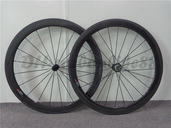 50mm high quality carbon fiber road bicycle wheels powerway R13 hub matt/glossy painted bike wheelset