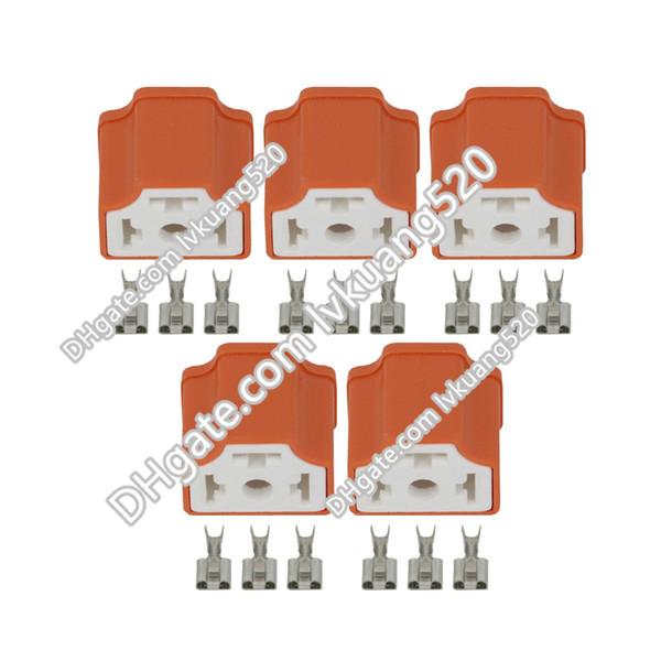 5 ensembles 3 fiche céramique H4, connecteur voiture H4 angle droit, prise H4, connecteur automobile céramique H4-2A 7.8