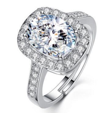 Engagement Ring Solitaire Gold Filltend White 14k 2 Ct Emerald Cut VS Enhanced Lad Diamond