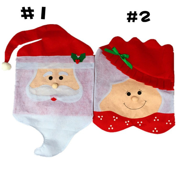 Lovely Christmas articles for use Chair Covers Ornaments Mr & Mrs Santa Claus Christmas Decoration