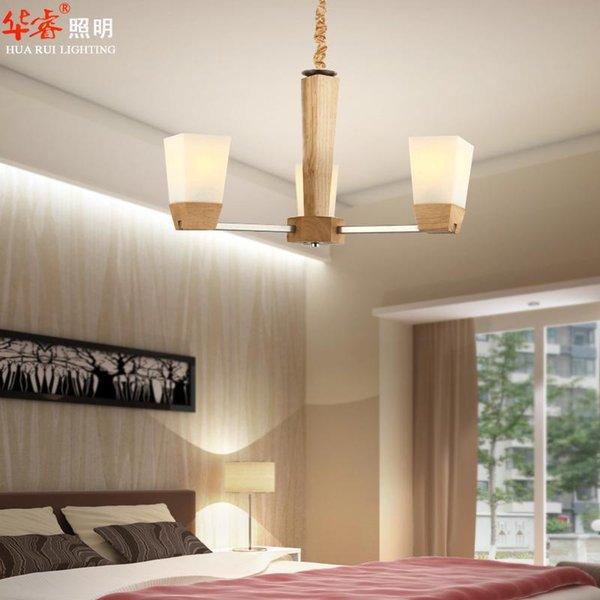 Schön Weinlese Minimalistische Feste Hölzerne Decken Hängende  Beleuchtung Chinesische Art Esszimmer Licht