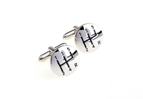 top popular Stainless Steel Car Shift Gear Cufflinks for Men Gearbox Cufflinks French Cufflinks Wedding Cufflinks Fathers Day Gifts 2021
