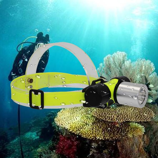 KC Fire 2000Lumen XML T6 LED 3 Mode Waterproof Scuba Diving Headlamp Underwater work Headlight Flashlight torch Light