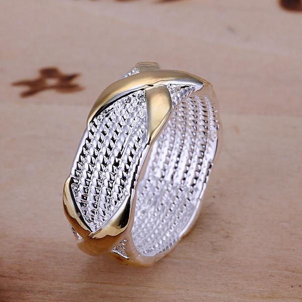 Vendita all'ingrosso-calda !! Monili d'argento sterlina di modo dell'anello d'argento di trasporto libero 925, anello dicroico X SMTR013