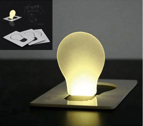 10PCS / Lot Design creativo Mini Pocket Pocket lampada pieghevole colorato LED Light Card Light LED di Natale Luce di Natale come regali di illuminazione