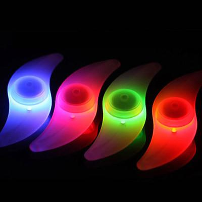 top popular Wholesale Bike Bicycle LED Wheels Spokes Lamp wheel Lights Motorcycle Electric car Silicone 4 colors flash alarm light cycle accessories 2019