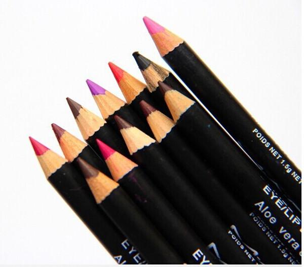 NUEVO maquillaje en caliente OJO / LÁPIZ LINER PENCIL Brow Lápices 12 colores diferentes envío gratis (12pcs / lot)