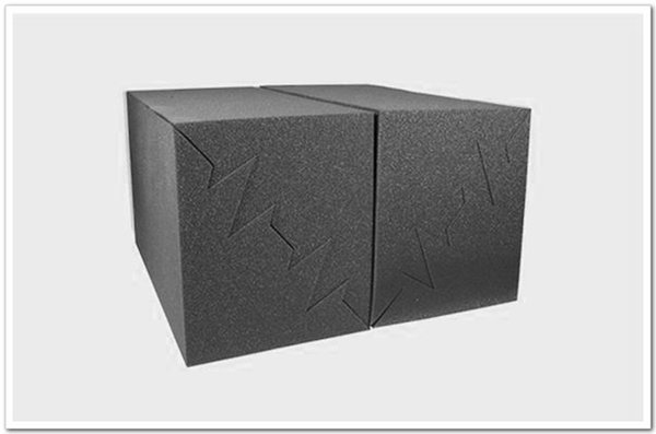 top popular Black 4pcs 50x25x25cm Acoustic Foam Bass Trap Studio Soundproofing Corner Wall Used for Dampening and Absorbing low Frequency Sound Wav 2021