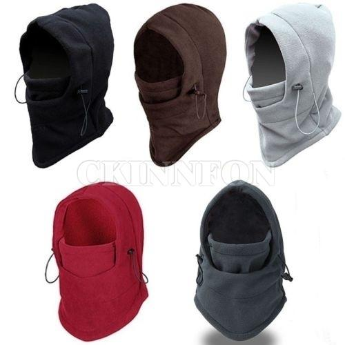 DHL 50PCS 4 in 1 Winter Warmer Mens Scarf Hood Neck Full Face Cover Mask Headscarf Sports Motorcycle Windproof Ski Hat