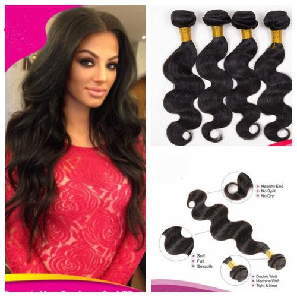 hot Peruvian Malaysian Indian Brazilian Virgin Hair 50g/pcs 5pcs/lot Dyeable Natural Color Remy Virgin Hair Body Wave Human Hair dhl free