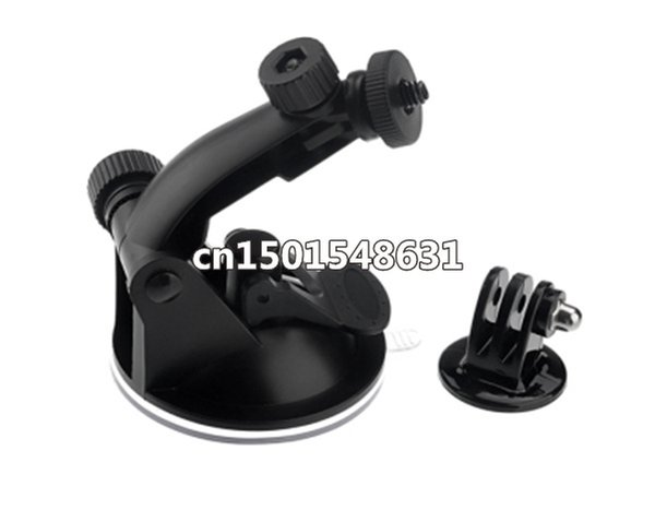 Sale !! GoPro Suction Cup Mount For GOPRO Go Pro Camera Accessories HD HERO 2/ 3 +Tripod Adapter+Screw+Nut Freeshipping