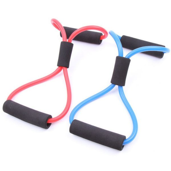 New Gym 8 Word Chest Developer Rubber Loop Latex Resistance Bands Fitness Equipment Stretch Yoga Training Crossfit Elastic Band