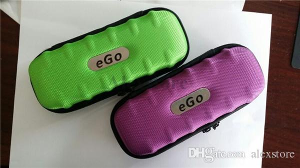 Ego case leather bag colorful electronic cigarette carry box 9 colors package with Zipper carrying for Ego Vapor Pen E cig Starter Kit DHL