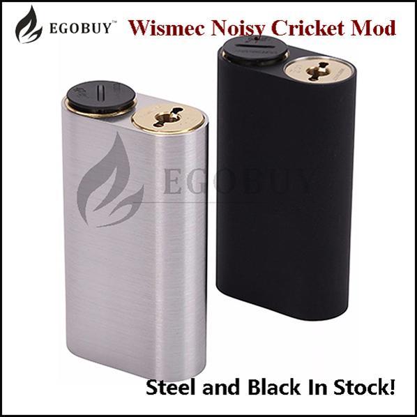 100% Original Wismec Noisy Cricket Mod 18650 battery Box Mods For DIY RBA RDA RTDA RTA Atomizer Tank Chritmas New Year Clearance Stock
