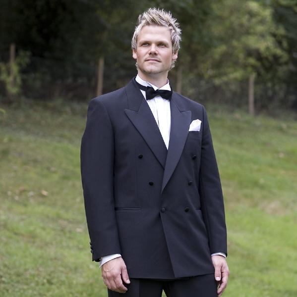 New Design Double buttons Navy Groom Tuxedos Groomsman Men's Wedding Dress Prom Clothing (Jacket+pants+Bows tie+girdle)