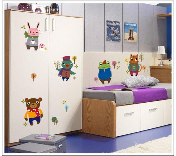Stickers muraux Amis de p/épini/ère de b/éb/é pour Chambre denfants Stickers muraux Chats de Dessins anim/és d/écalcomanies Amovibles pour Enfants de Chats