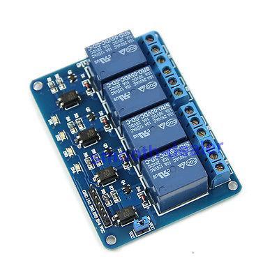 Modulo a relè blu a 4 canali 5V Low Strigger per Arduino PIC ARM DSP AVR MSP430
