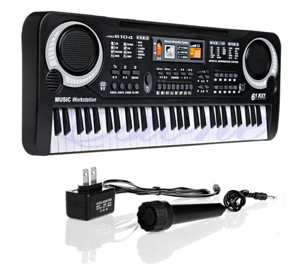 best selling Hot 61 Keys Digital Music Electronic Keyboard Key Board Gift Electric Piano Gift New Free Shipping