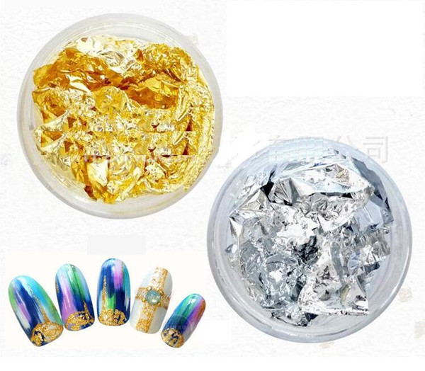 top popular 2016 New Supernova Sale DIY 3D Nail Art Decorations Gold Silver Foil For UV Gel & Acrylic Nail Decoration 1 pc 2021