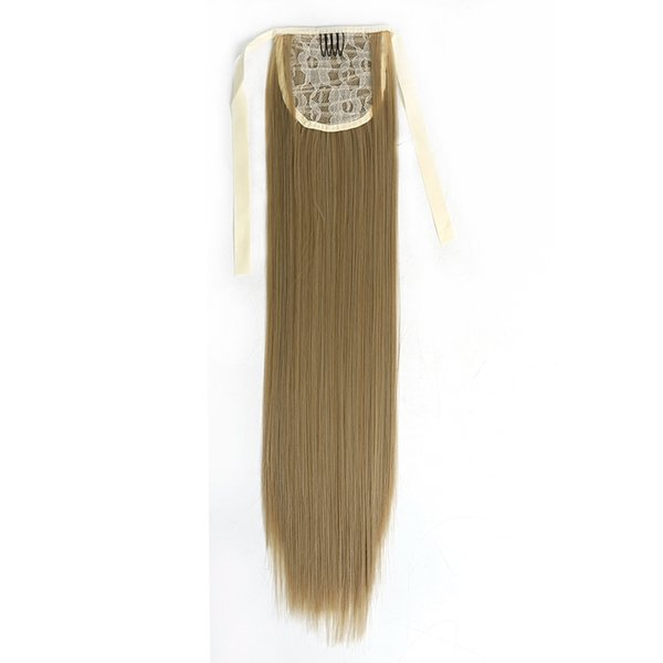"""22"""" High Temperature Fiber Silky Straight Synthetic Clip in Drawstring Ponytail Hairpieces for Women"""