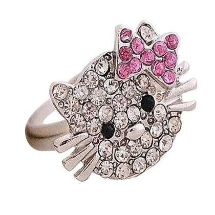 Gli anelli di fidanzamento dell'anello del mazzo dell'anello del mazzo del gatto di diamante perfezionano il prezzo franco fabbrica di gioielli