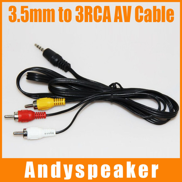 Kablo Ses Video AV 3.5mm jack 3 RCA kablosu 112 CM 3 1 Kablo Yüksek Hızlı RCA Adaptörü 50 adet / up
