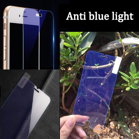 Mobile phones Anti blue light Protect eyes temper glass for iphone 8 7 6 6S 6S plus Non full screen explosion proof 9H screen Free shipping